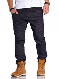 Rello & Reese Herren Jeans Straight Fit Luca Denim Hose Regular Stetch [Dunkelblau2, W34/L34] von Rello & Reese