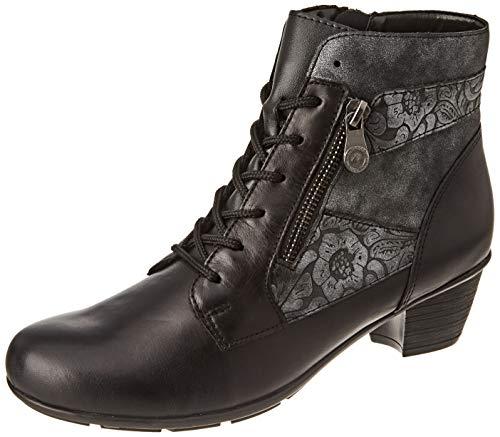 D8880-02 schwarz Remonte Damen Stiefeletten schwarz//fumo//black