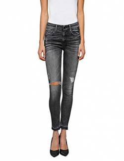 Replay Damen LUZ HIGH Waist Skinny Jeans, Grau (Dark Grey 97), No Aplica/L32 (Herstellergröße: 32) von Replay