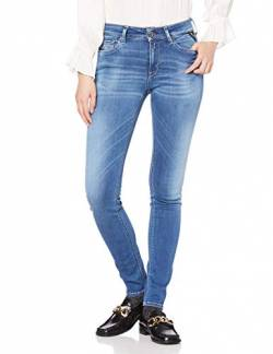 Replay Damen New LUZ Jeans, Blau (Medium Blue 9), W25/L28 von Replay