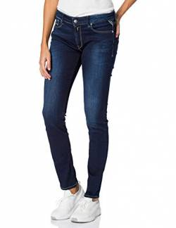 Replay Damen New Luz' Skinny Jeans, Dark Blue 007, 24W / 30L von Replay