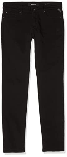 Replay Damen New LUZ Skinny Jeans, Schwarz (Black 98), W25/L28 von Replay