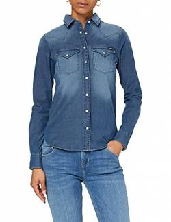 Replay Damen W2962 .000.39B 357 Bluse, Blau (Denim 9), X-Small (Herstellergröße: XS) von Replay