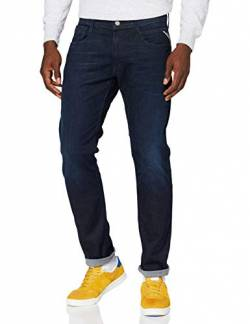 Replay Herren Anbass Jeans, 7 Dark Blue, 30W / 32L von Replay