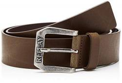 Replay Herren Gürtel AM2417.000.A3001, Braun (Dark Wood Brown 110), 95 von Replay
