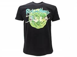 Rick and Morty Herren T-Shirt Schwarz Schwarz, Schwarz X-Large von Rick and Morty