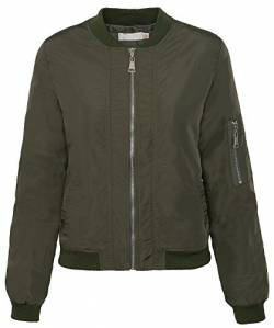 Rock Creek Selection Damen Bomberjacke Old School Bikerjacke Piloten Fliegerjacke Übergangsjacke D-179 S-XL [D-179 / WJ-5939 ArmyGreen Gr. S] von Rock Creek Selection
