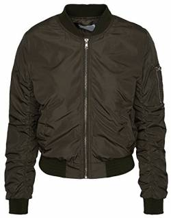 Rock Creek Selection Bomberjacke Damen Pilotenjacke Retro Daunenjacke Übergangs Jacke D-163 S-L / 36-40 [D-163 - JT16003 Army Grün - Gr. M / 38] von Rock Creek Selection