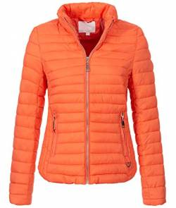 Rock Creek Damen Steppjacke Übergangsjacke Leicht Outdoorjacke Damenjacke Frauen Jacken Gesteppte Jacken Herbstjacke Jacke Weste D-427 Orange S von Rock Creek