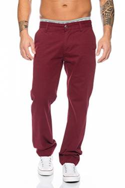 Rock Creek Herren Chino Hose Herrenhose RC-2083 [Bordo W33 L32] von Rock Creek