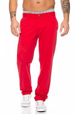 Rock Creek Herren Chino Hose Herrenhose RC-2083 [Rot W40 L34] von Rock Creek