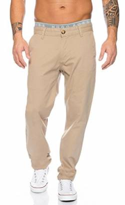 Rock Creek Herren Chino Hose Herrenhose RC-2083 [Sand W30 L32] von Rock Creek