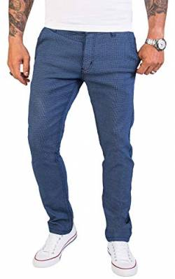 Rock Creek Herren Chino Hose Slim Fit Business Hosen Chinohose Stoffhose Chinos Hosen für Männer Casual Elegante Hose RC-2154 Blau W36 L32 von Rock Creek