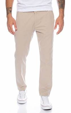 Rock Creek Herren Designer Chino Hose Regular Slim Chinohose RC-390 Beige W33 L30 von Rock Creek