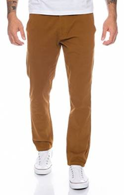 Rock Creek Herren Designer Chino Hose Regular Slim Chinohose RC-390 Camel W30 L30 von Rock Creek