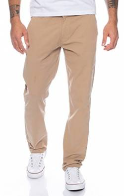 Rock Creek Herren Designer Chino Hose Regular Slim Chinohose RC-390 Dunkelbeige W38 L30 von Rock Creek