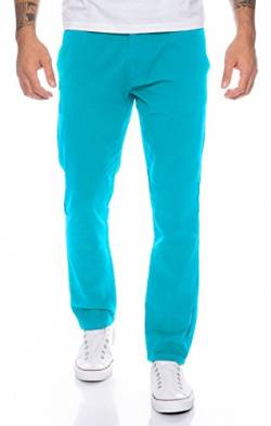 Rock Creek Herren Designer Chino Hose Regular Slim Chinohose RC-390 Hellblau W31 L32 von Rock Creek