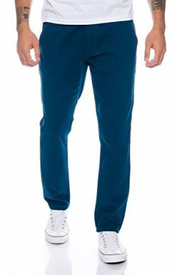 Rock Creek Herren Designer Chino Hose Regular Slim Chinohose RC-390 Petrolblau W33 L30 von Rock Creek