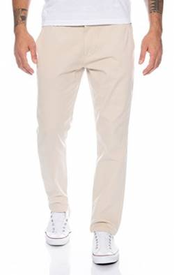 Rock Creek Herren Designer Chino Hose Regular Slim Chinohose RC-390 Sand W31 L32 von Rock Creek