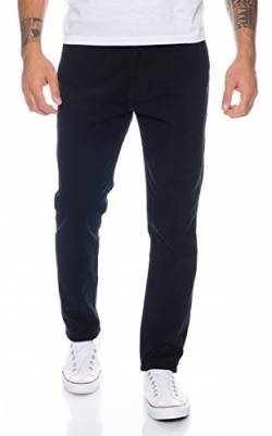 Rock Creek Herren Designer Chino Hose Regular Slim Chinohose RC-390 Schwarz W40 L32 von Rock Creek