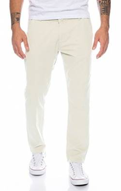 Rock Creek Herren Designer Chino Hose Regular Slim Chinohose RC-390 Stone W34 L32 von Rock Creek