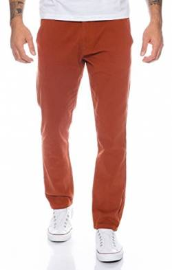 Rock Creek Herren Designer Chino Hose Regular Slim Chinohose RC-390 Terracotta W31 L30 von Rock Creek