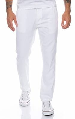 Rock Creek Herren Designer Chino Hose Regular Slim Chinohose RC-390 Weiß W36 L32 von Rock Creek