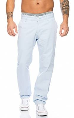 Rock Creek Herren Designer Chino Stoff Hose Chinohose Regular Fit Herrenhose W29-W40 RC-2083 [RC-2083 - Babyblau - W32 L30] von Rock Creek