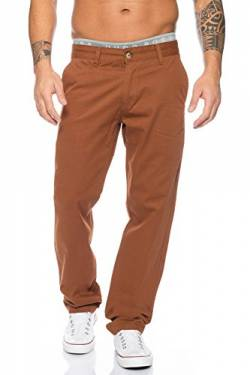 Rock Creek Herren Designer Chino Stoff Hose Chinohose Regular Fit Herrenhose W29-W40 RC-2083 [RC-2083 - Braun - W31 L32] von Rock Creek