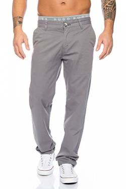 Rock Creek Herren Designer Chino Stoff Hose Chinohose Regular Fit Herrenhose W29-W40 RC-2083 [RC-2083 - Grau - W29 L30] von Rock Creek