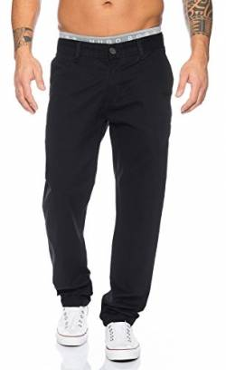 Rock Creek Herren Designer Chino Stoff Hose Chinohose Regular Fit Herrenhose W29-W40 RC-2083 [RC-2083 - Schwarz - W30 L32] von Rock Creek