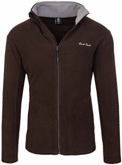 Rock Creek Herren Fleecejacke Sweatjacke Herrenjacke Übergangsjacke H-139 [Brown S] von Rock Creek