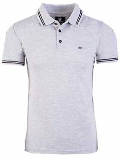 Rock Creek Herren Polo T-Shirts Basic Shirt Kurzarm Poloshirt Polohemd Slim Fit Sommer Shirts Männer T Shirt Top Polokragen H-177 Grau 4XL von Rock Creek