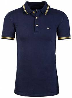 Rock Creek Herren Polo T-Shirts Basic Shirt Kurzarm Poloshirt Polohemd Slim Fit Sommer Shirts Männer T Shirt Top Polokragen H-177 Navy XL von Rock Creek