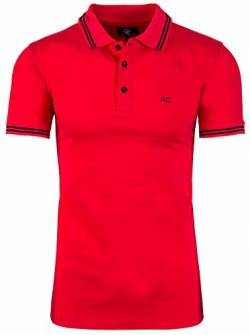 Rock Creek Herren Polo T-Shirts Basic Shirt Kurzarm Poloshirt Polohemd Slim Fit Sommer Shirts Männer T Shirt Top Polokragen H-177 Rot L von Rock Creek