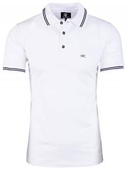 Rock Creek Herren Polo T-Shirts Basic Shirt Kurzarm Poloshirt Polohemd Slim Fit Sommer Shirts Männer T Shirt Top Polokragen H-177 Weiß S von Rock Creek