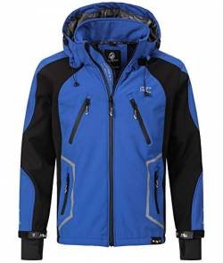 Rock Creek Herren Softshell Jacke Outdoor Jacke Windbreaker Übergangsjacke Anorak Kapuze Regenjacke Winterjacke Herrenjacke Jacket H-230 Blau M von Rock Creek