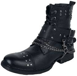 Rock Rebel by EMP Last Man Standing Männer Boot schwarz EU43 Leder Rockwear von Rock Rebel by EMP