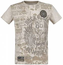 Rock Rebel by EMP Rebel Soul Männer T-Shirt beige 4XL von Rock Rebel by EMP