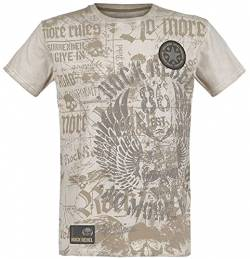Rock Rebel by EMP Rebel Soul Männer T-Shirt beige S von Rock Rebel by EMP
