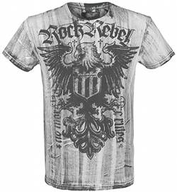 Rock Rebel by EMP Rebel Soul Männer T-Shirt weiß 4XL von Rock Rebel by EMP