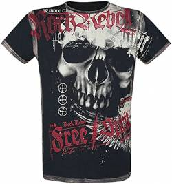 Rock Rebel by EMP T-Shirt mit Skullprint Männer T-Shirt schwarz M 100% Baumwolle Basics von Rock Rebel by EMP