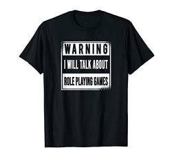 Pen and Paper RPG GAMER Spiel Würfel W20 Dice D20 TALK GAMES T-Shirt von Role Playing Game rpg gamer Fantasy Dragons Shirts
