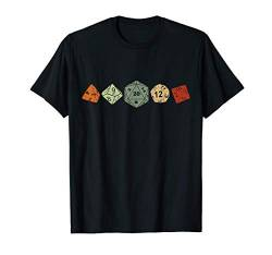 Pen and Paper RPG GAMER Würfel Kette set Dice D20 Brettspiel T-Shirt von Role Playing Game rpg gamer Fantasy Dragons Shirts
