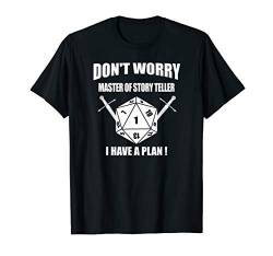 RPG Würfel Brettspiel Dice DONT WORRY Dragons Pen and Paper T-Shirt von Role Playing Game rpg gamer Fantasy Dragons Shirts