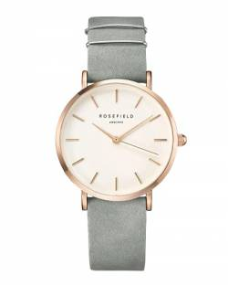 Rosefield Damen Analog Uhr The West Village Mint Grau Roségold WMGR-W74 von Rosefield