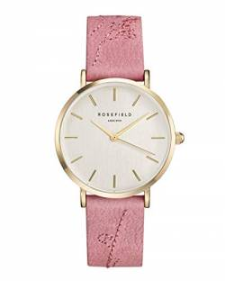 Rosefield Damen Analog Uhr The City Bloom Rosa Gold CIRBG-E92 von Rosefield