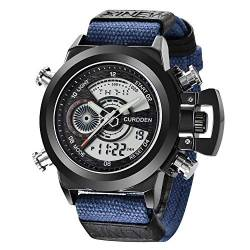Rosennie Armbanduhr Herren Casual Quarzuhr Sportuhr Nylon Armband Elektronisch Watches Outdoor Militär Watches Wasserdicht von Rosennie