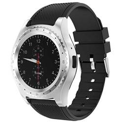 Rosennie Smartwatch Modisch Sport Uhren für Herren Analog Quarz Uhr mit Silikon Armband Kalender Uhren Watches Wasserdicht Uhr Digital LED Alarm mit Fitness Reminder Support SIM TF Card von Rosennie