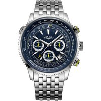 Rotary Exclusive Pilot Herrenchronograph in Silber GB00644/05 von Rotary